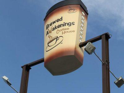 Brewed Awakenings sign