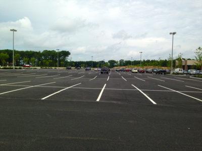 Lowes Home Improvement parking lot