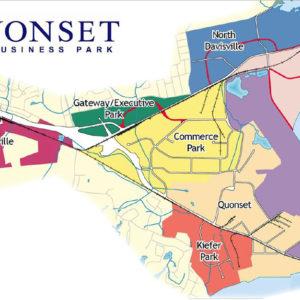 Quonset Business Park map