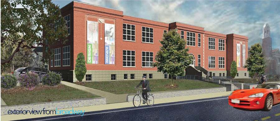 Rendering of Innovate Newport's exterior